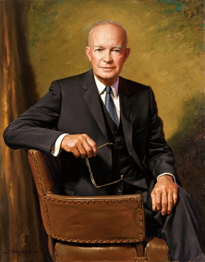 Ike as president. Image by James Anthony Wills via  Wiki Commons
