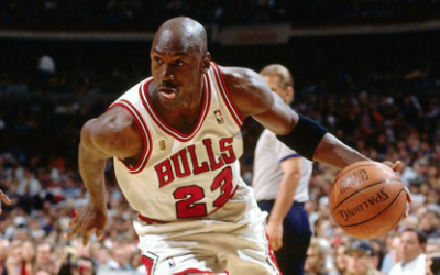 HIs Airness played with a fury never seen before or since. Photo via  WikiMedia Commons .