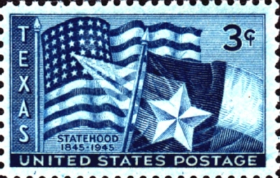The U.S. Postal Service commerated the Texas COnvention with this stamp in 1945.