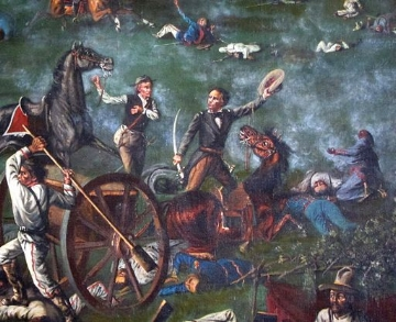 Houston and his Texians won the Battle of San Jacinto in 18 minutes. Remember the Alamo indeed.