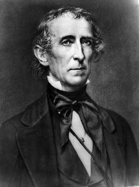 John Tyler was the first vice-president to gain the white House because of the death of a president, deeply unpopular he was no