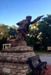 Billy ther Kid welcomes travelers to Hico. Photo Credit: M'Lissa Howen.