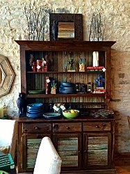 An impressive hutch, typical of Blue Star's offerings. Photo Credit: M'Lissa Howen.