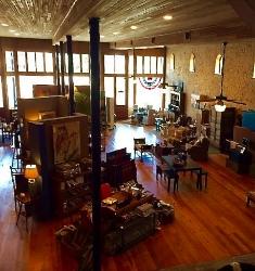 The beautiful interior at Blue Star. Photo Credit: M'Lissa Howen.