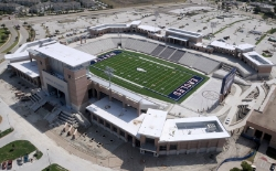 If you are not sure about the magnitude of Texas High School Football, take a look at the home stadium for the $60,000,000 home of the Allen Eagles. Photo Credit: Aerial Photography, Inc. via  Wikimedia Commons .