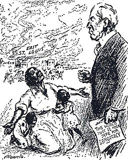 William Charles Morris / Public domain The St. Louis paper at least recognized the disparity in President Wilson's idea of America as a bastion of democracy and the reality its Black citizens lives.