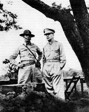 MacArthur with Lieutenant General Jim