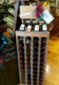Some of the great Texas wines offered at the Pecan Street Drink Shoppe. Photo Credit: M'Lissa Howen.
