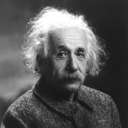 How would he have done on the Physics test? Well enough to get his diploma? Photo by By Albert_Einstein_1947.jpg: Photograph by Oren Jack Turner, via  WikiMedia Commons .