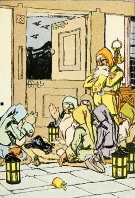 Ricky, Bobby, Carly and the rest of the dwarfs whistle while they work. Photo Credit: Jessie Braham White, The Brothers Grimm (Snow White and the Seven Dwarfs) via Wikimedia Commons