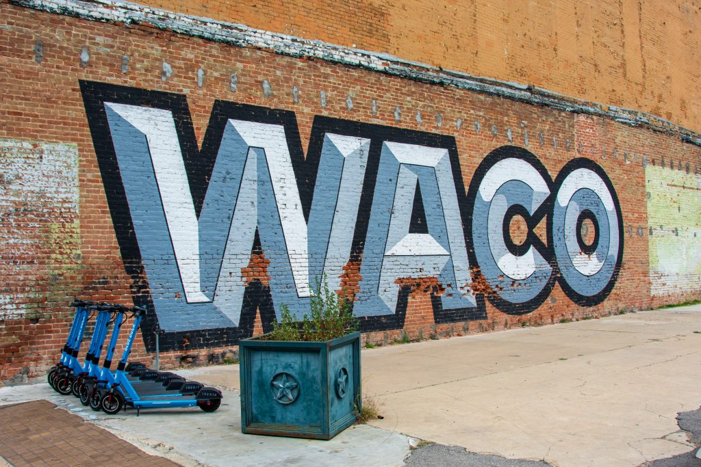 This art is definitely not hidden. One of my favorite Waco murals. It is descriptive to say the least.