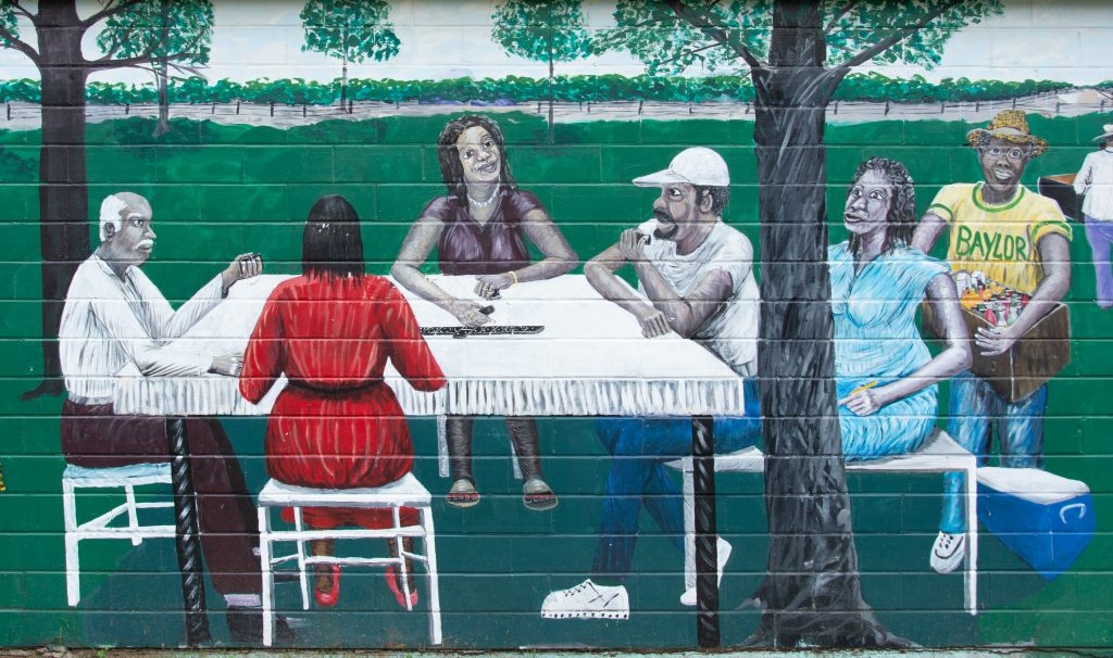 Ira Watkins' art is not hidden. You can find it throughout East Waco.