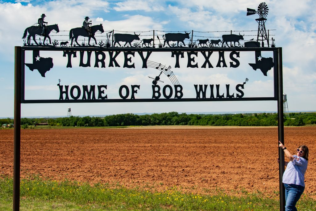 Turkey. Texas was a welcome sight for M'Lissa. She grew up listening to the music of the town's hometown hero, Bob Wills.