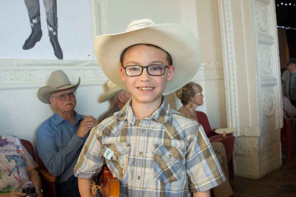 A Bob Wills day fiddle contestant.