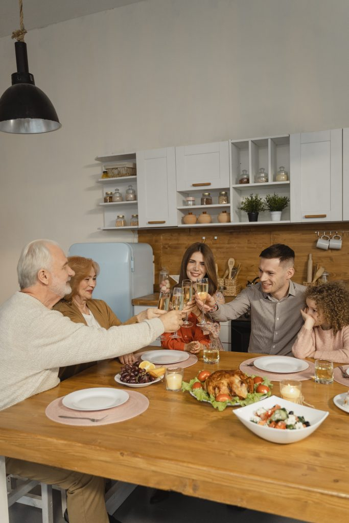 Thanksgiving with the parents and grandparents is a way to pass on values and tradition.